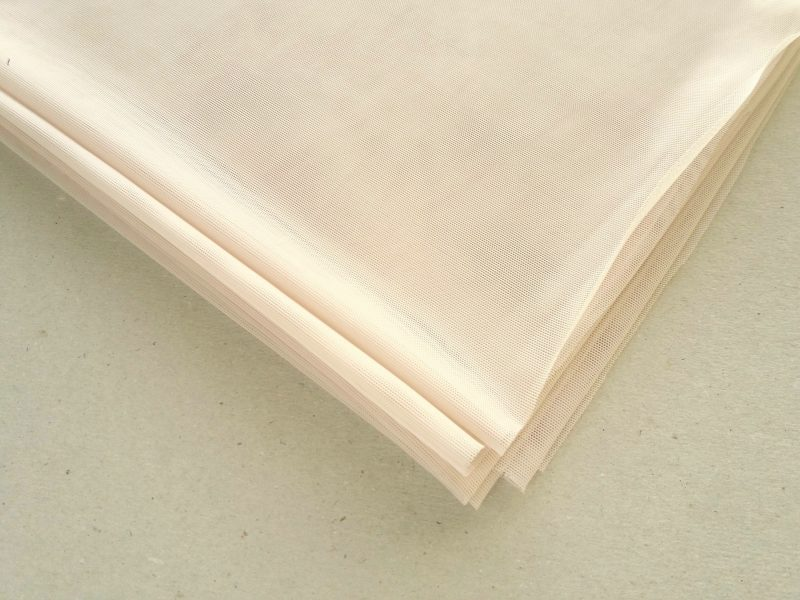 White 4-way stretch Mesh fabric